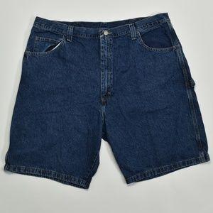 Wrangler Regular 42 Blue   Denim Shorts Cotton Sol